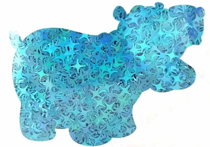 Holographic Shape Glitter - Blue Starburst  - Glitter Hippo®
