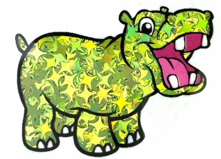 Holographic Shape Glitter - Lime Starbursts  - Glitter Hippo®