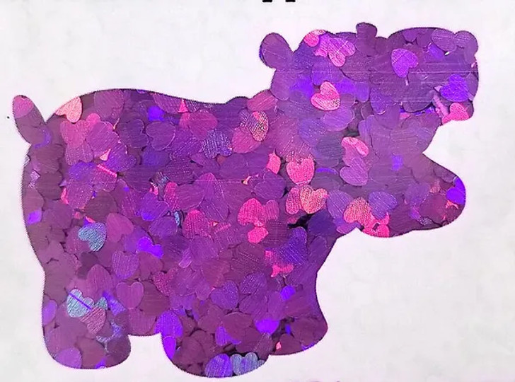 Holographic Shape Glitter - Purple Hearts  - Glitter Hippo®