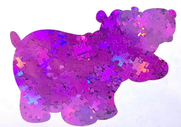 Holographic Shape Glitter - Purple Puzzle Pieces  - Glitter Hippo®