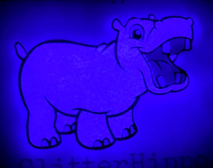 Violet Glow in the Dark Glitter - Purple Lightning - Purple Glow Glitter