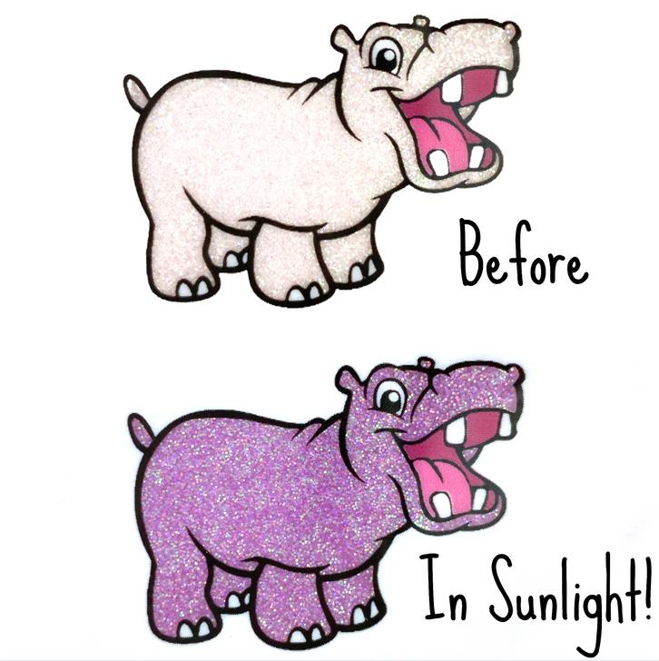 UV Glitter - White to Orchid - Solar Sunlight Color Changing Glitter Photochromic