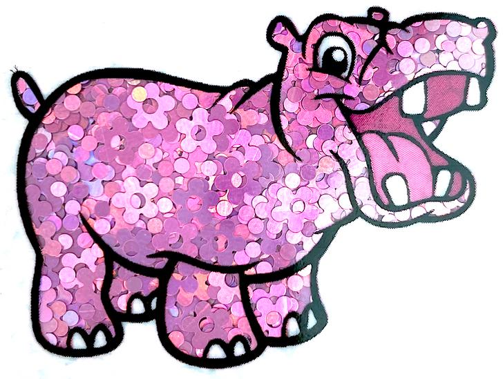 Purple Pink Holographic Flower Glitter