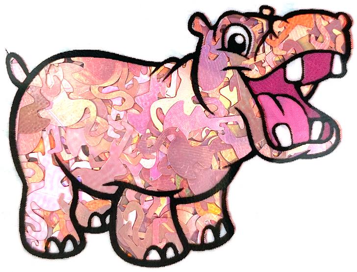 Holographic Flamingo Glitter Pink