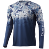 HUK H1200288 Icon X Refraction Fade Performance Shirt Bluefin - Front