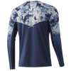 HUK H1200288 Icon X Refraction Fade Performance Shirt Bluefin - Back