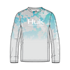 HUK H1200288 Icon X Refraction Fade Performance Shirt Inshore - Front