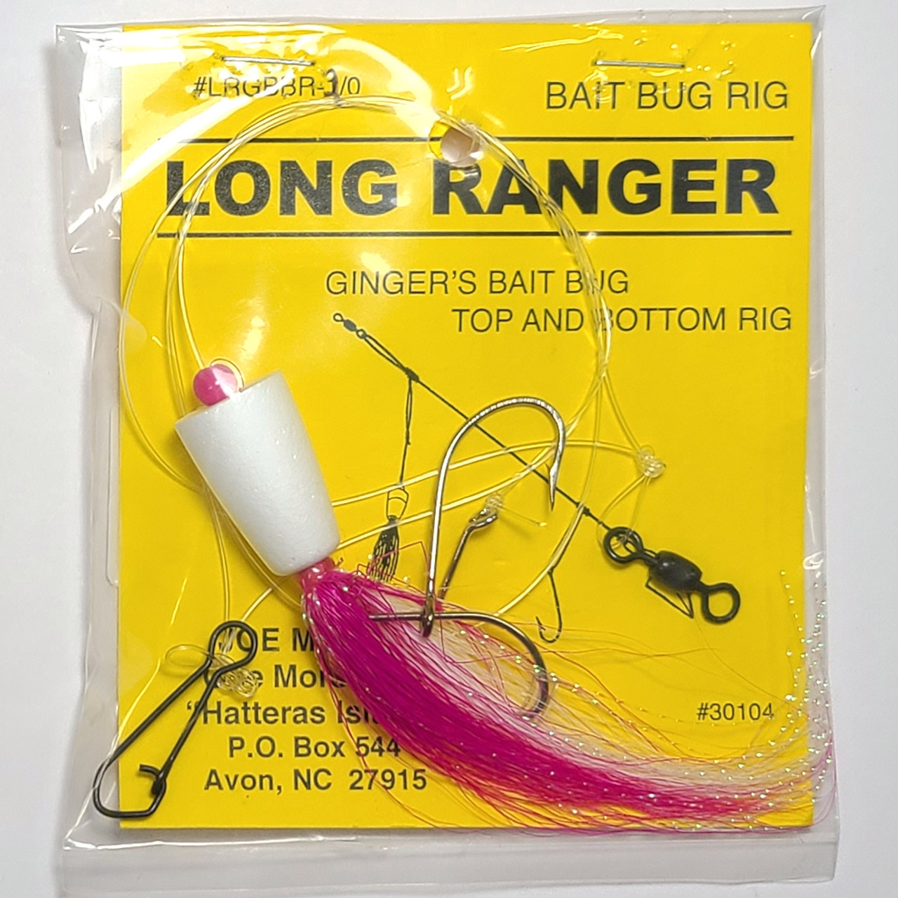 One More Cast - Ginger Bait Bug Rig 2/0 Red/White