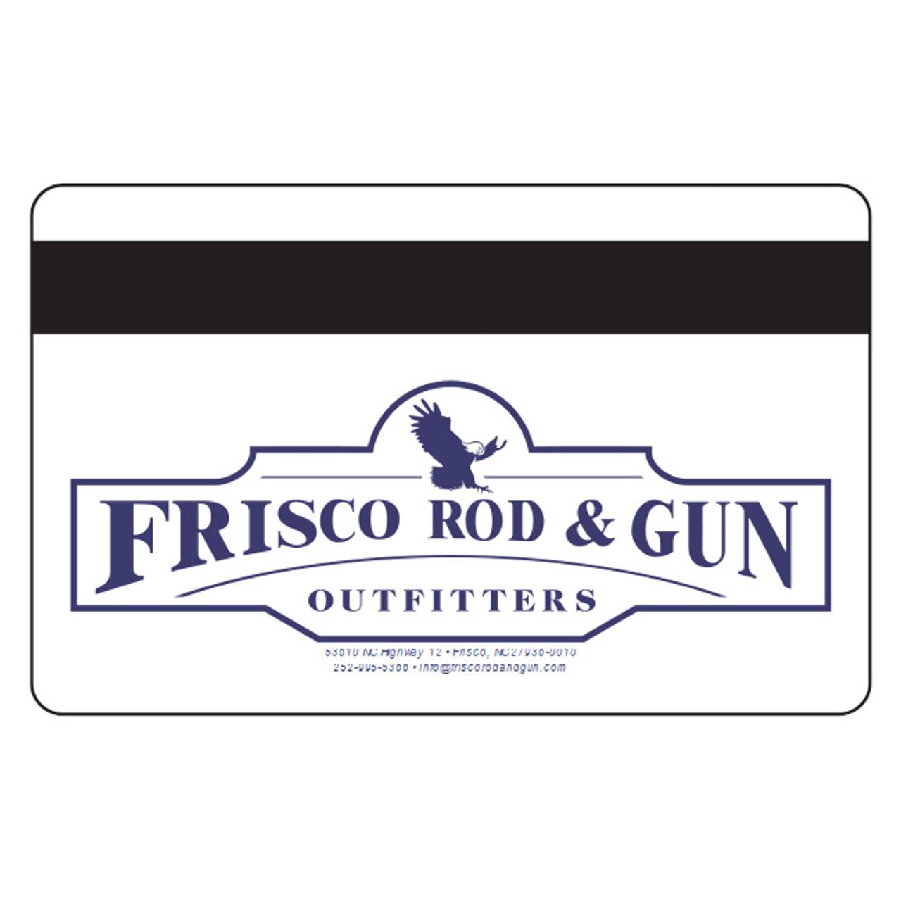 Frisco Rod & Gun Gift Card - Back