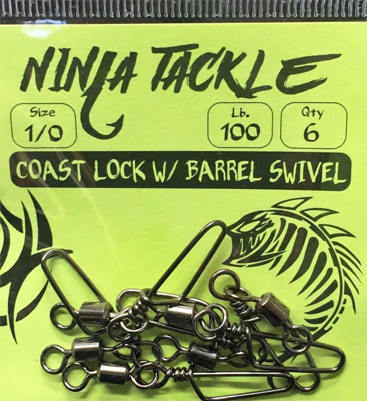 Ninja Tackle 1/0 Coast Lock with Barrel Swivel