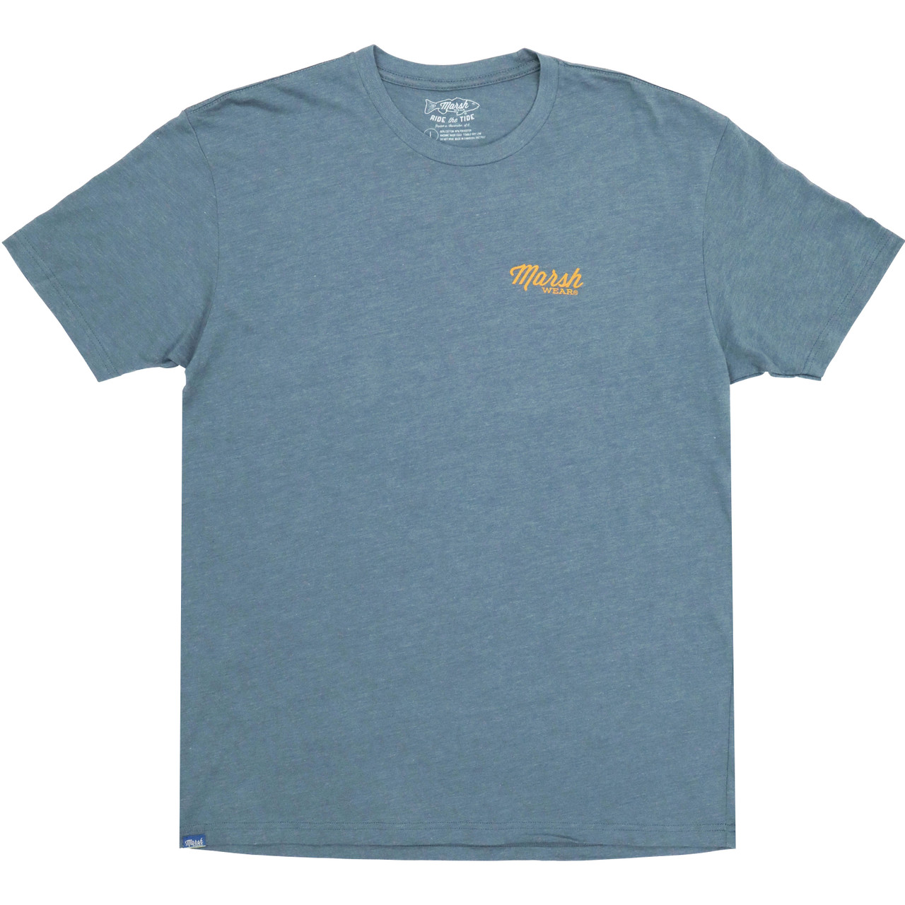 Marsh Wear MWT3046 Stripes T-Shirt Indigo Heather - Front