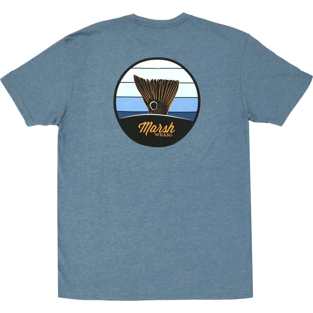 Marsh Wear MWT3046 Stripes T-Shirt Indigo Heather - Back