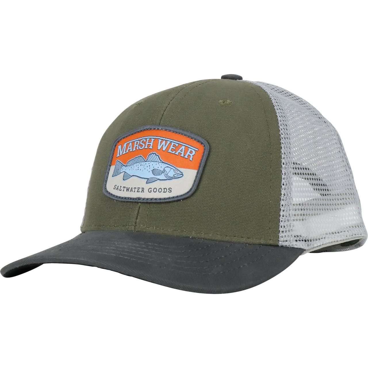Marsh Wear MWC1029 Speckled Trucker Hat Jalapeno Green - Angled