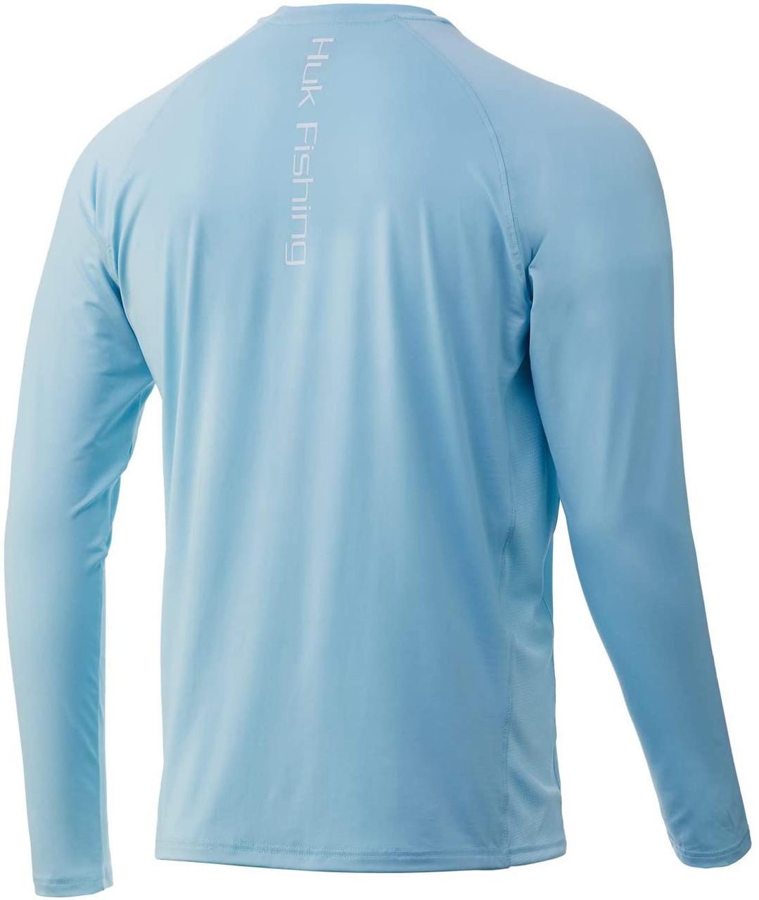 HUK H1200150-450 Pursuit Vented Performance Shirt Ice Blue - Back