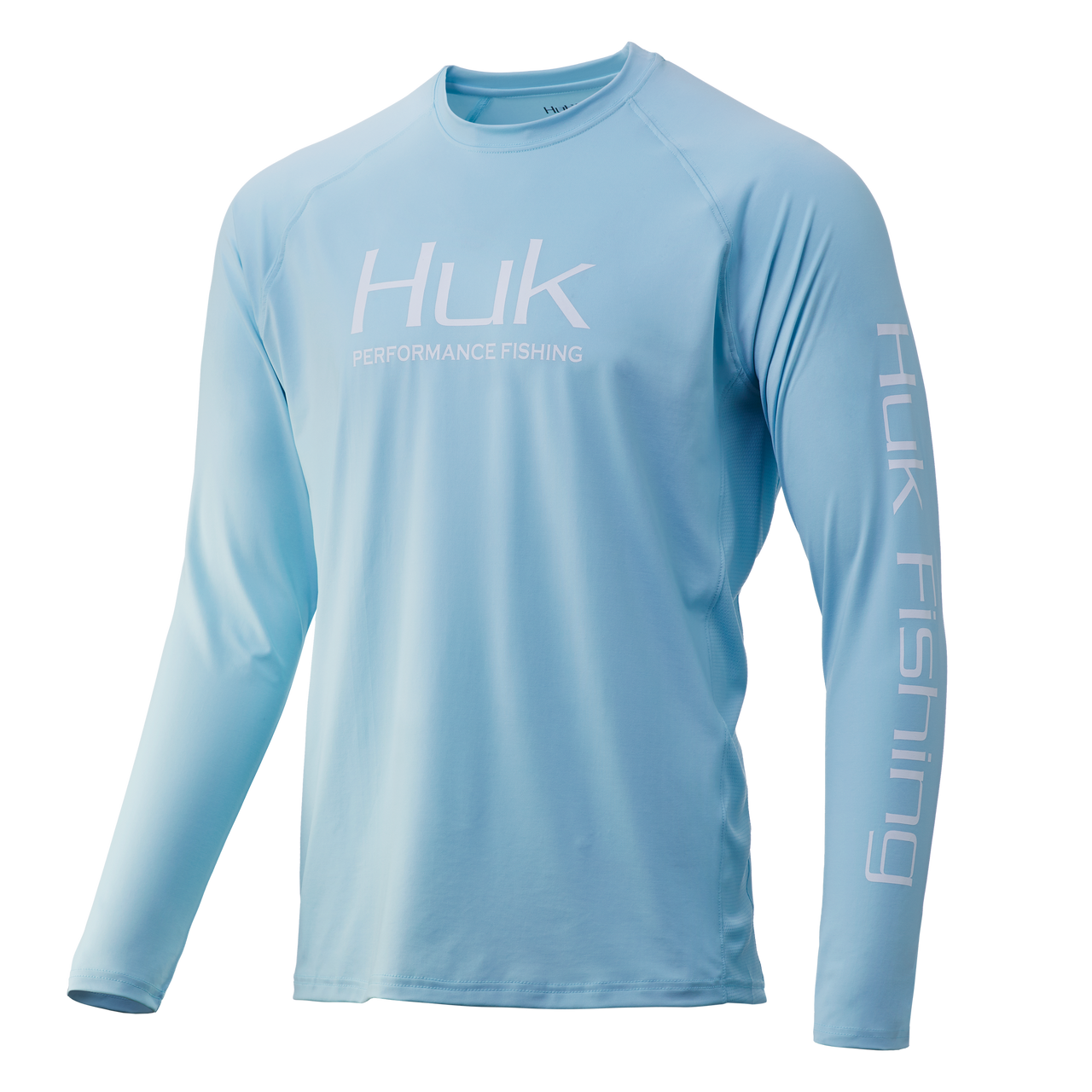 HUK H1200150-450 Pursuit Vented Performance Shirt Ice Blue - Front