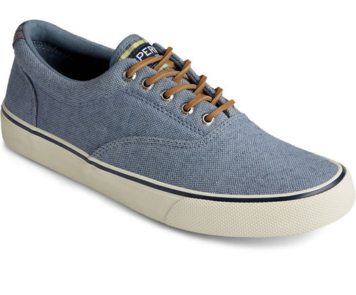 SPERRY STS22046 Mens Striper II CVO Distressed Sneaker Blue - Angle