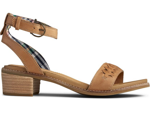 SPERRY STS85213 Womens Seaport Ankle Strap City Sandal Tan - Side