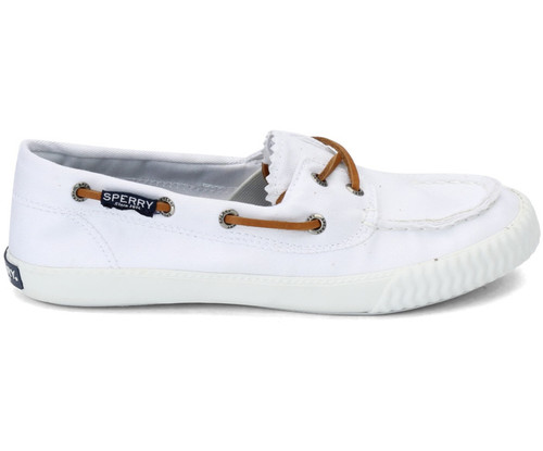 SPERRY STS95742 Womens Sayel Away Boat Shoes Washed White - Side