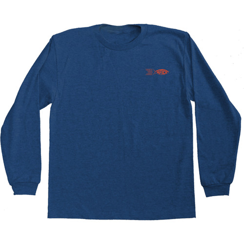 Aftco BT8375Y Youth Red Hot T-Shirt Navy Heather - Front