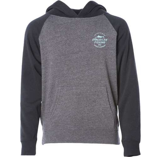 Aftco BFP4339 SWSH Kids Root Beer Pullover Hoodie Charcoal - Front