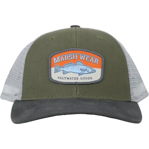 Marsh Wear MWC1029 Speckled Trucker Hat Jalapeno Green - Front