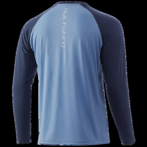 HUK H1200341 Double Header Performance Shirt Dusk Blue - Back