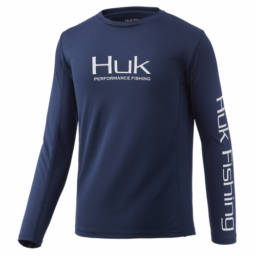 HUK H7120035 Youth Icon X Performance Shirt Sargasso Sea - Front