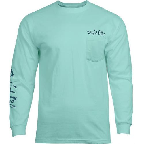 Salt Life SLM10831 Hook It LS T-Shirt Aruba - Front