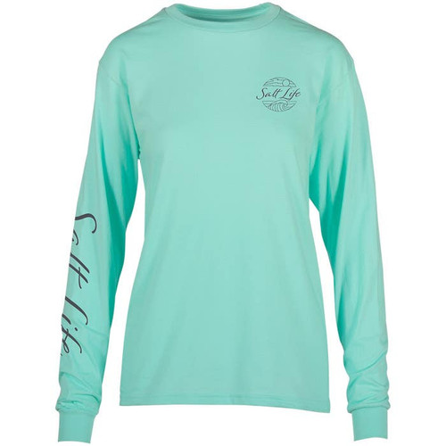 Salt Life SLJ10597 Turtle Bloom Womens LS T-Shirt Aruba - Front
