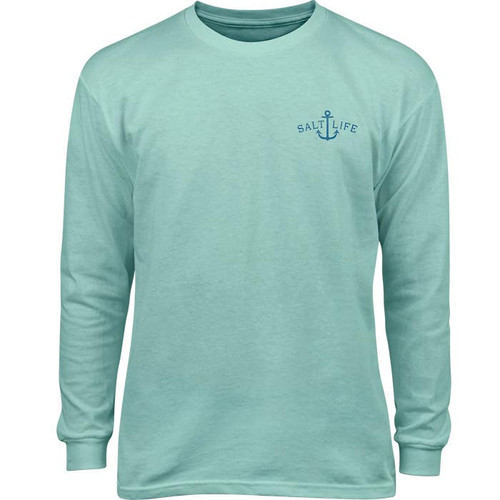 Salt Life SLY1339 Free as the Sea Youth LS T-Shirt Aruba - Front
