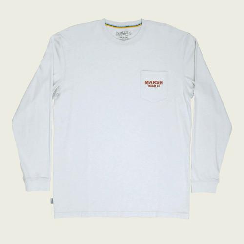 Marsh Wear MWT2020 Wood Duck LS T-Shirt Silver - Front