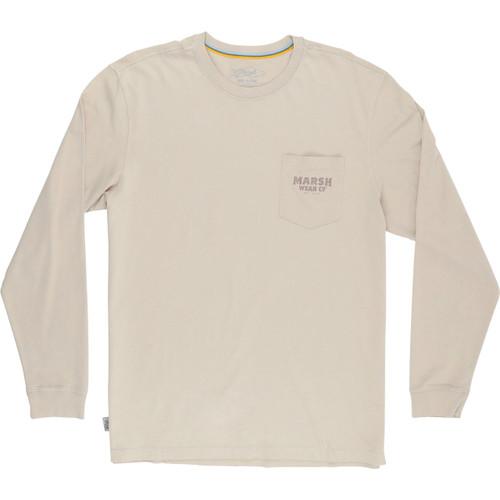 Marsh Wear MWT2030 Mallards LS T-Shirt LatteBrown - Front