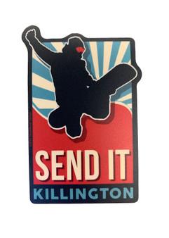 """Killington Logo """"Send It"""" Sticker"""