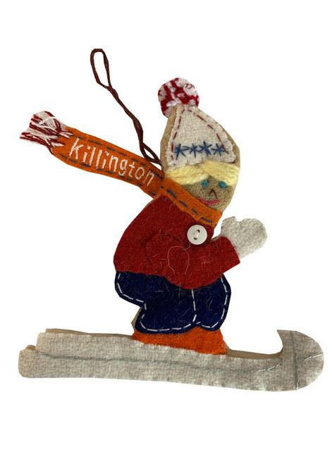 Killington Logo Felted Christmas Ornament (New Styles)