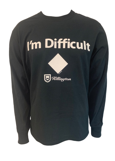"Killington Logo ""I'm Difficult"" Long Sleeve Tee"