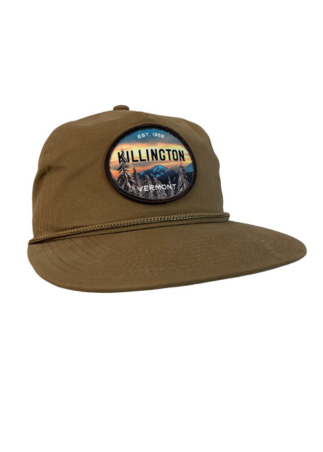 Killington Logo Mountainscape Flat Brim Hat