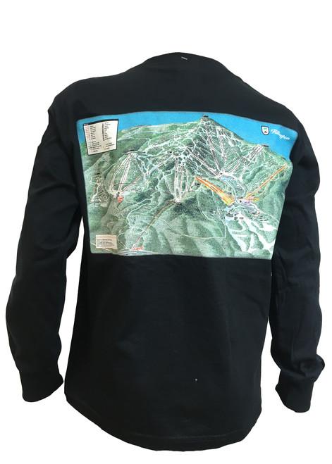Killington Logo Youth Trail Map Long Sleeve Tee
