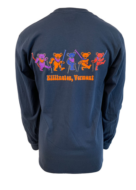 Killington Logo Grateful Bears Long Sleeve Tee