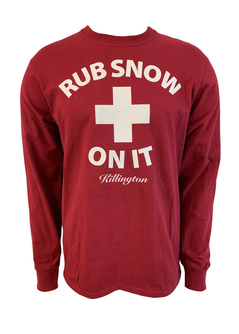 "Killington Logo ""Rub Snow On It"" Long Sleeve Tee"