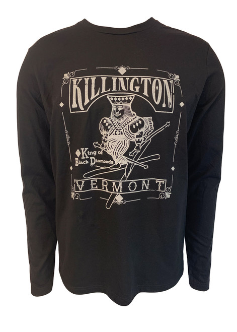Killington Logo King Of Black Diamonds Long Sleeve Tee