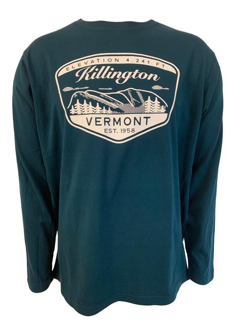 Killington Logo Mountainscape Long Sleeve Tee