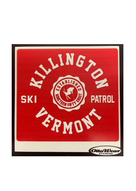 Killington Logo Ski Patrol Sticker