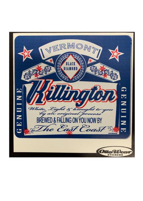 Killington Logo Genuine Snow Sticker