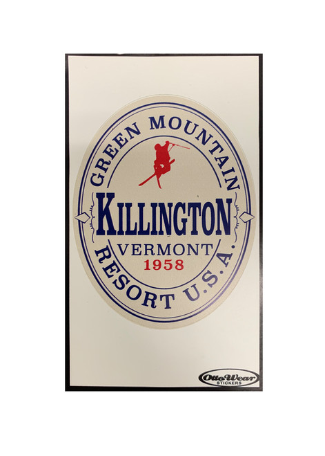 Killington Logo Green Mountain Sticker