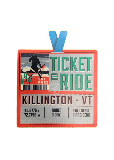 Killington Logo Ticket to Ride Sticker