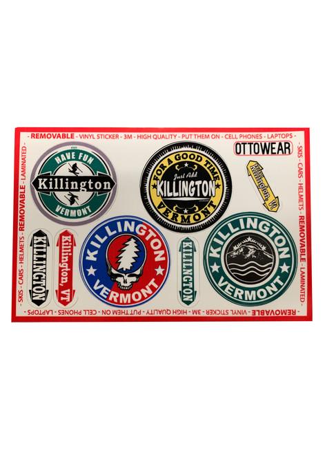 Killington Logo Assorted Sticker Packs