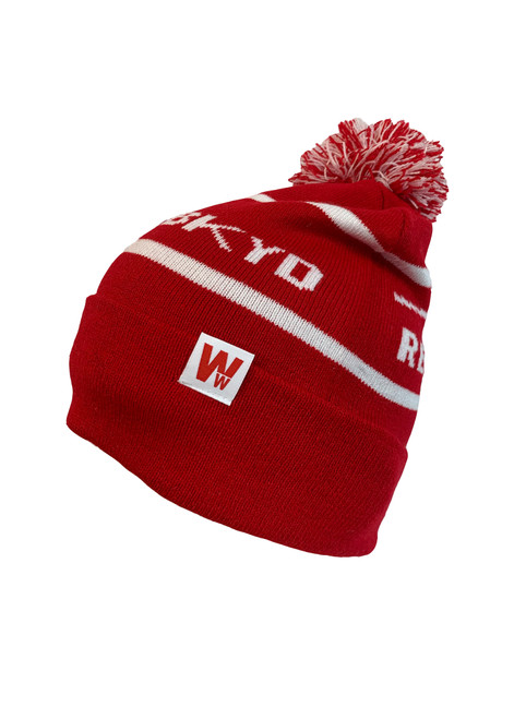 Woodward Red's Logo Pom Beanie