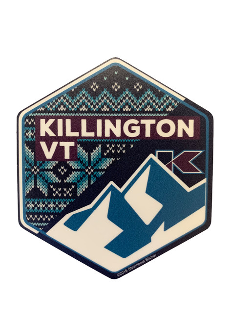 Killington Logo VT Hex Sticker