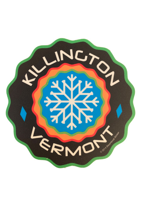Killington Logo Wavy Circle Sticker