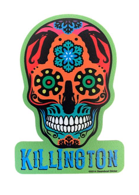 Killington Logo Crazy Skull Sticker